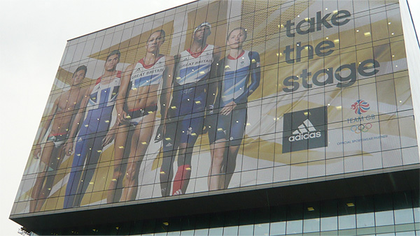 Large Adidas Visual Display