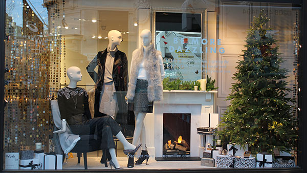 Karen Millen Christmas Window Display